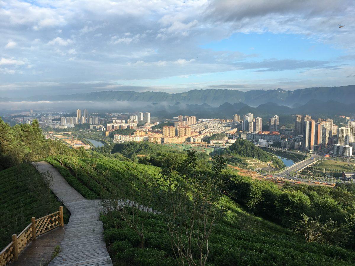 贵州遵义·清晨的湄潭县城