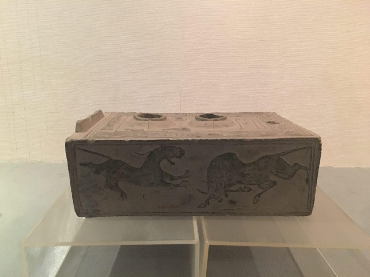 西汉灰陶灶