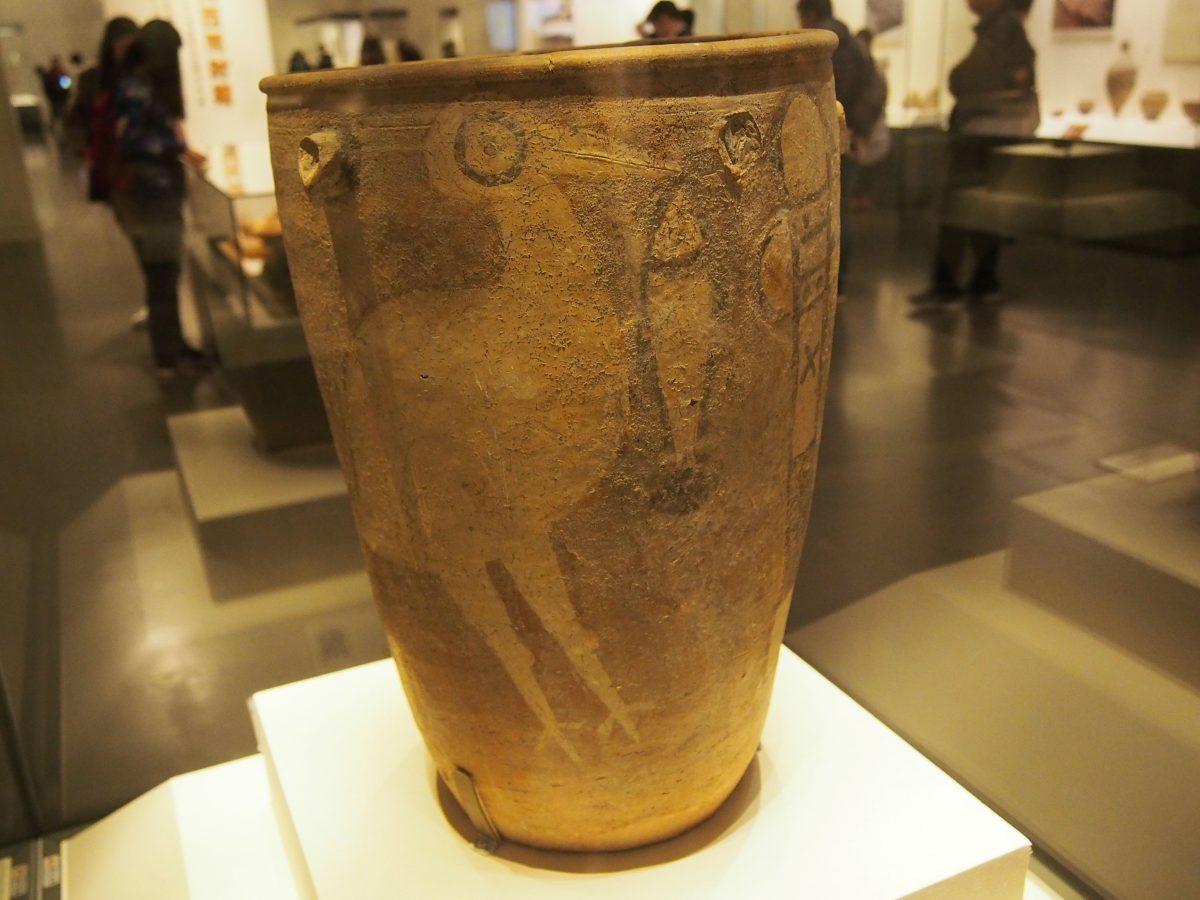 鹳鱼石斧纹彩陶缸