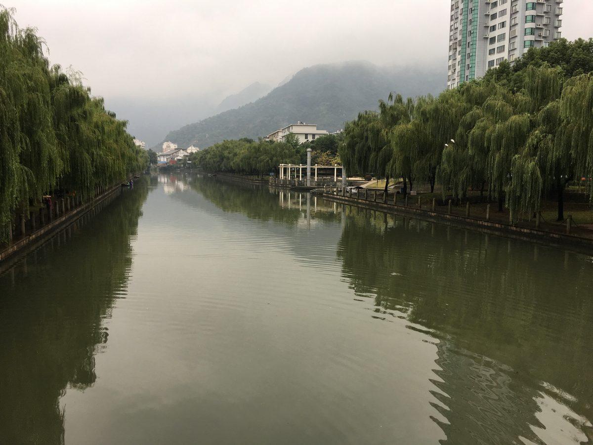 浙江·台州·黄岩·冬季·山·水·桥·雾
