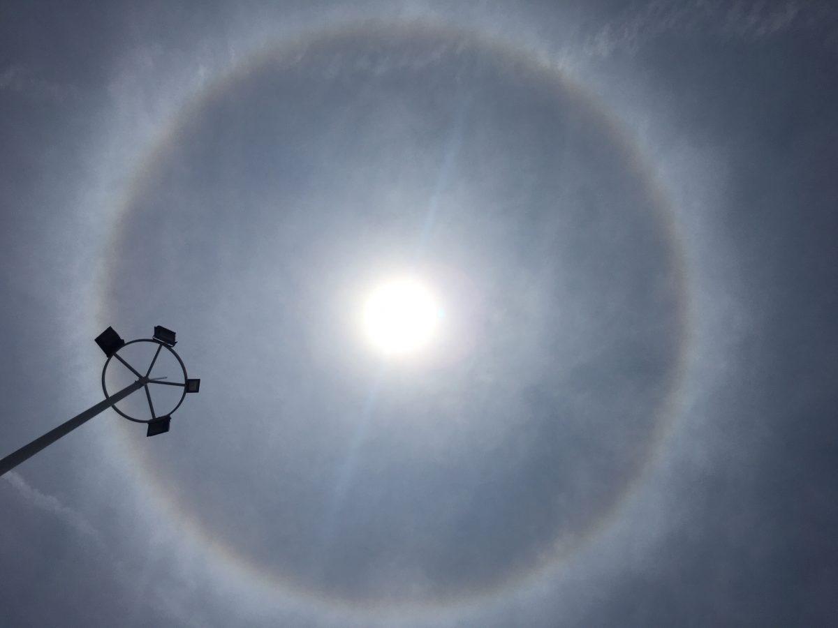 上海·夏季·天象·日晕