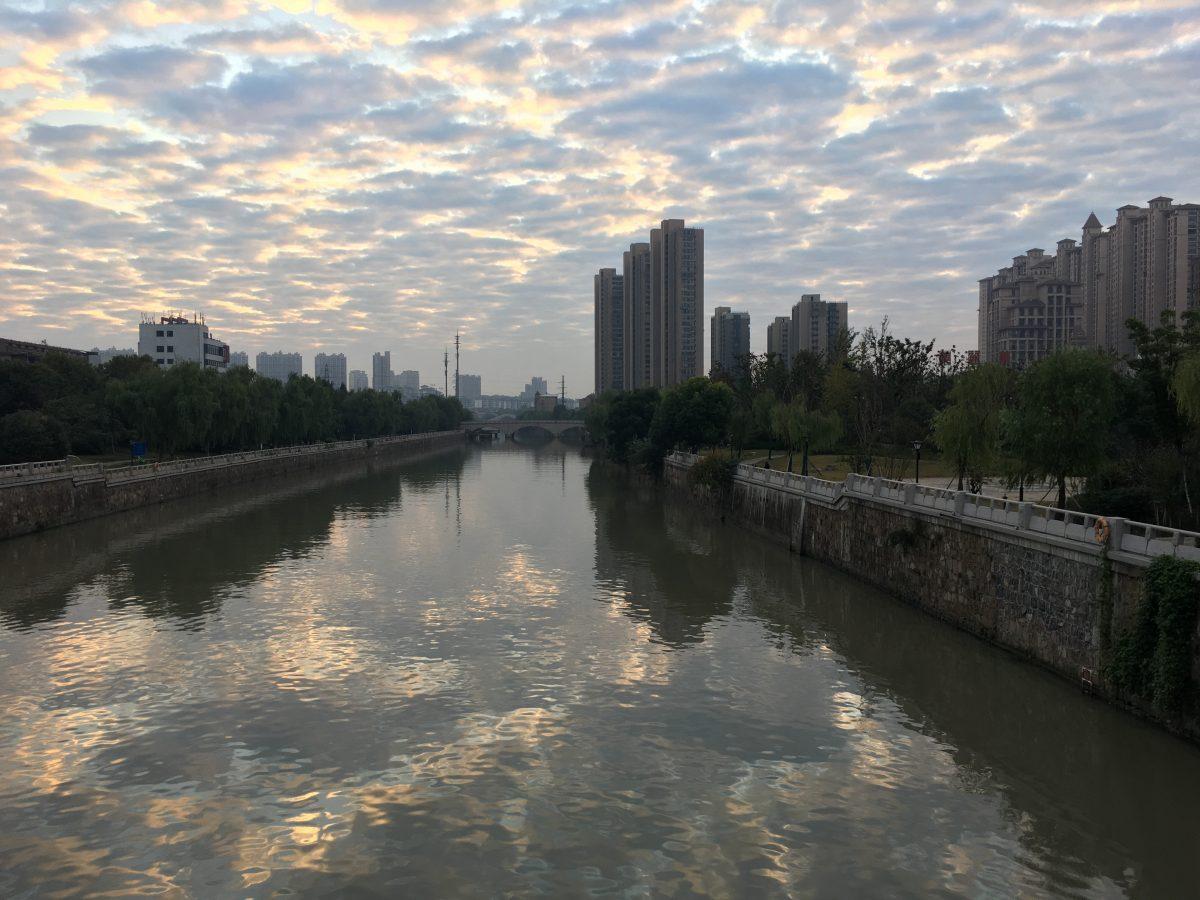 仲秋·清晨·朝霞·京杭运河·江南