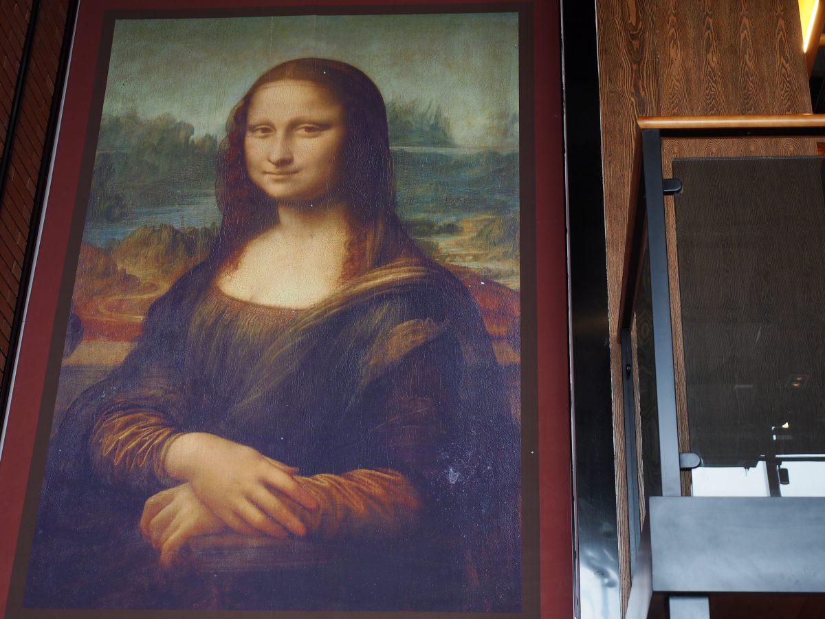 巨幅达芬奇的蒙娜丽莎画像
