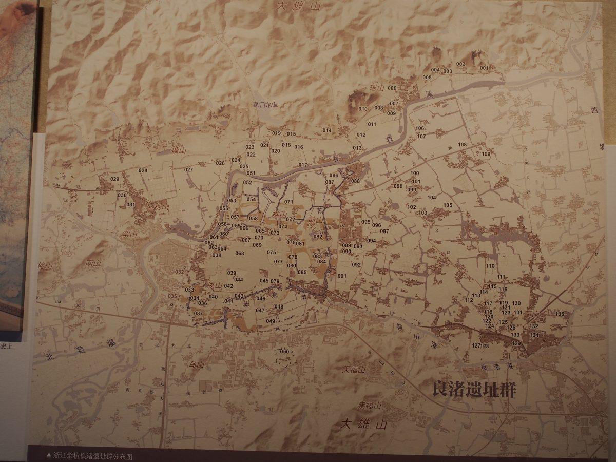 良渚遗址群分布图