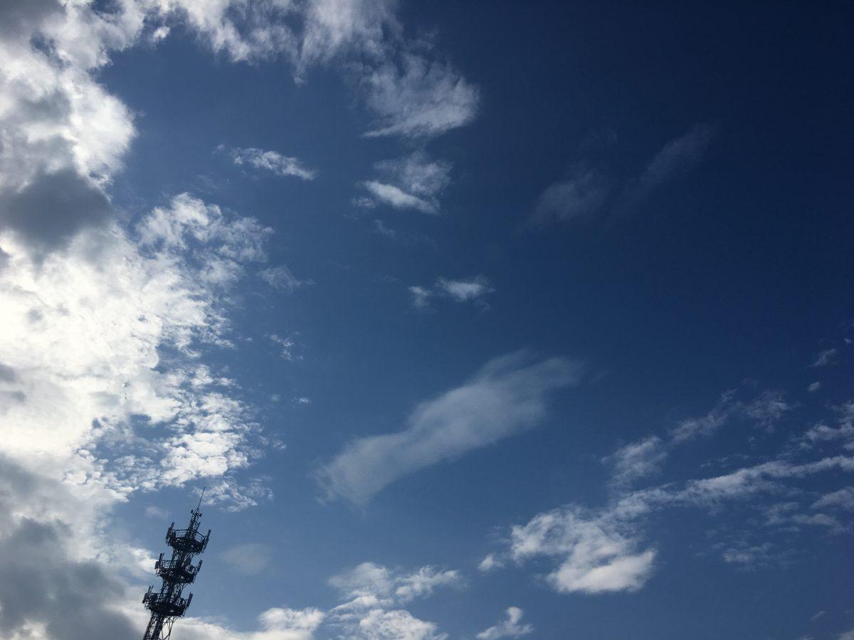 夏季清晨·上海·蓝天白云