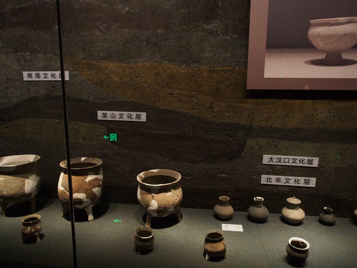 梁王城遗址文化堆积层示意图