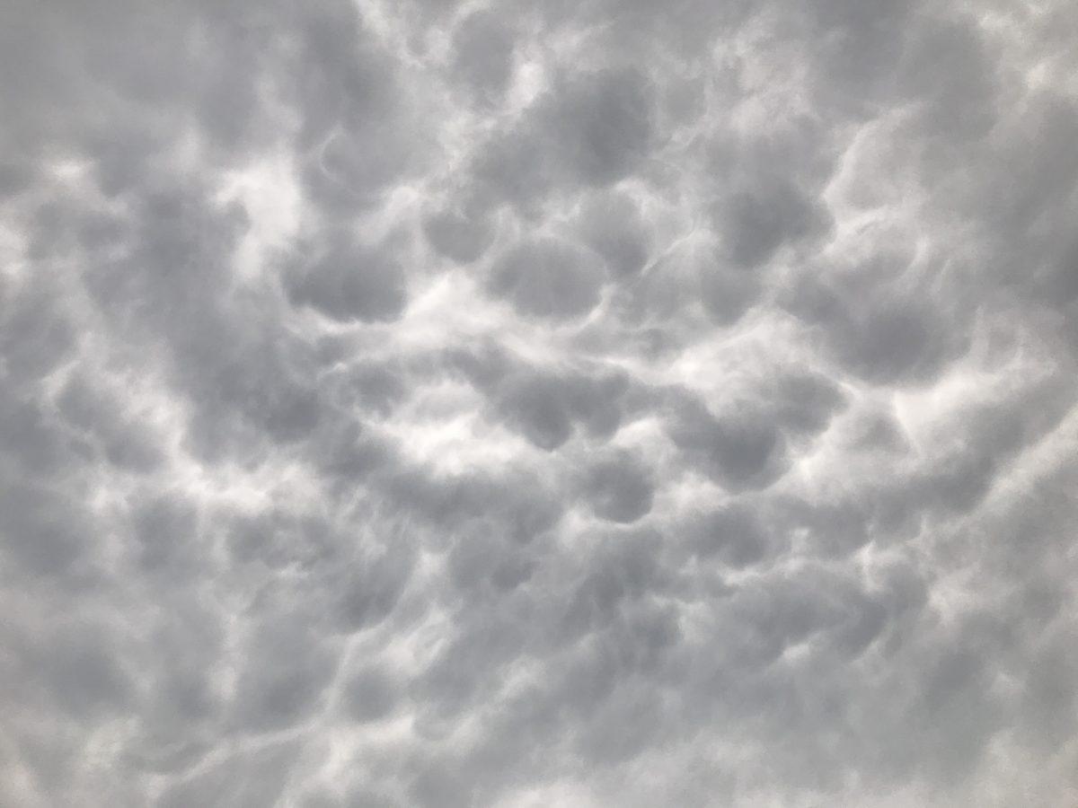 夏季·傍晚·阴云·乳状云