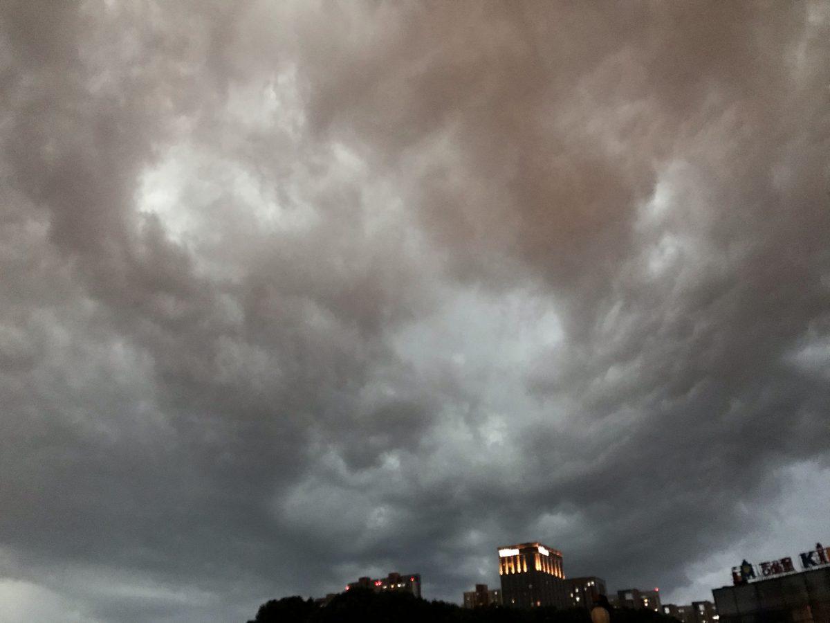 夏季·暴雨·乌云笼罩下的公园☁️