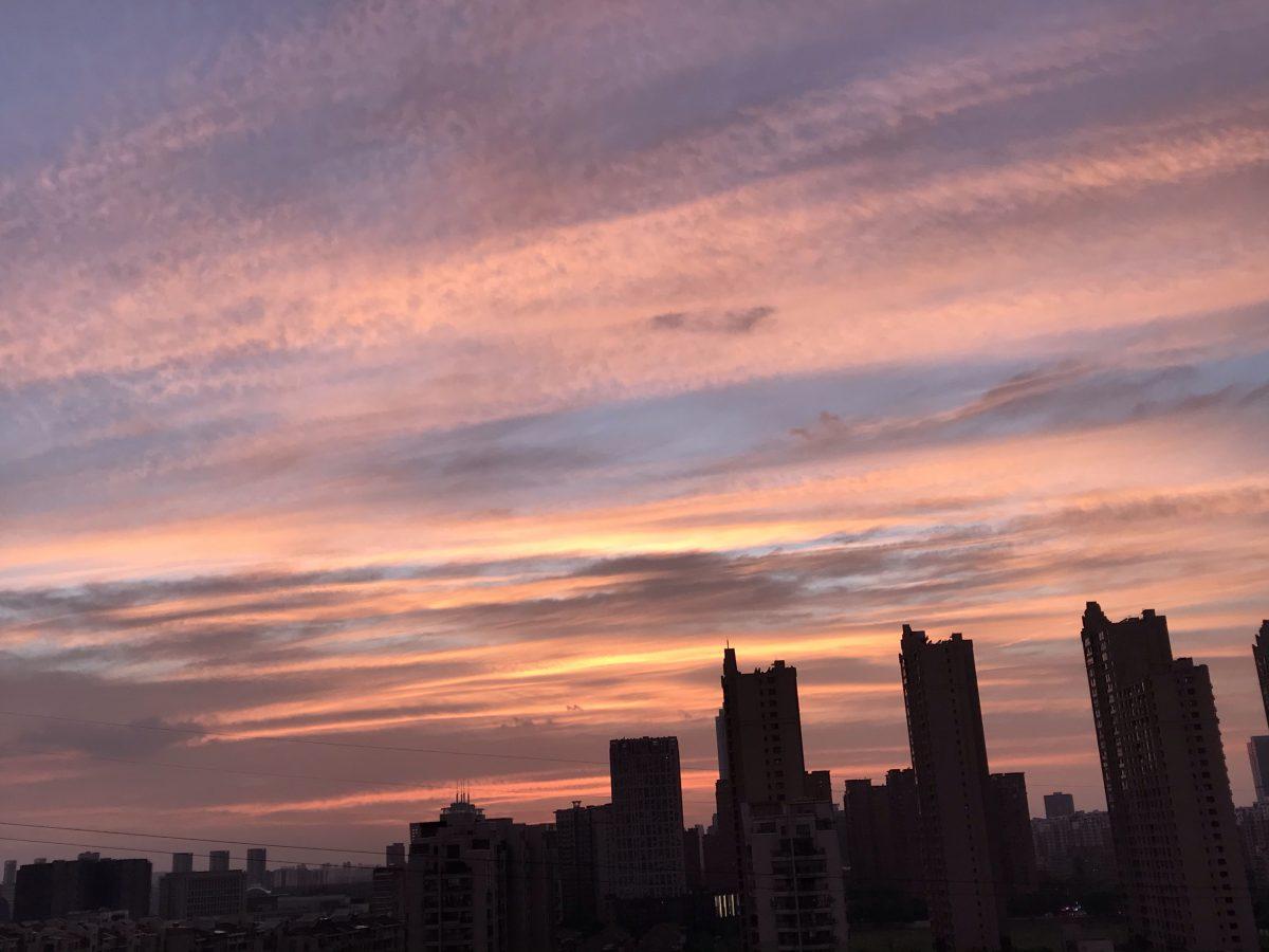 夕阳·天空·彩云
