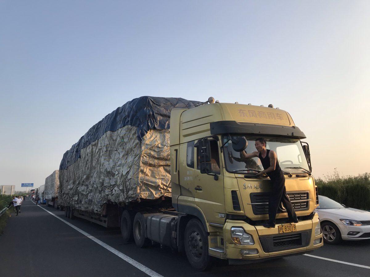 安徽·高速堵车·货车·司机